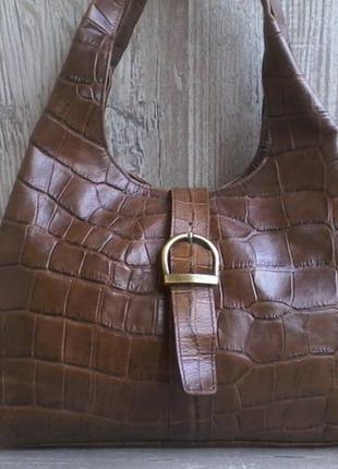 Брендовая кожаная сумка claudio ferrici (италия)