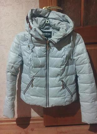 Куртка тёплая трансформер с капюшоном