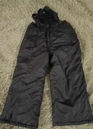 Очень теплые лыжные штаны зимний полукомбинезон на морозы