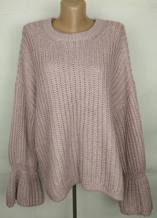 Стильный вязаный свитер большой размер george uk 20/48/3xl