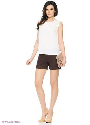 🔥🔥🔥стильные коричневые короткие женские классические, деловые, строгие шорты bay!🔥🔥🔥