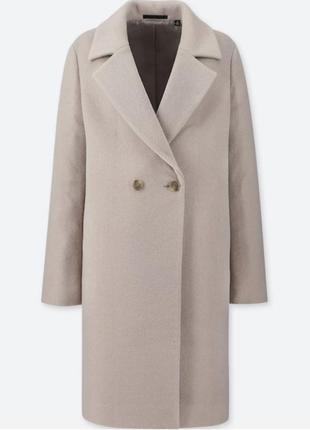 Uniqlo пальто 50% шерсть