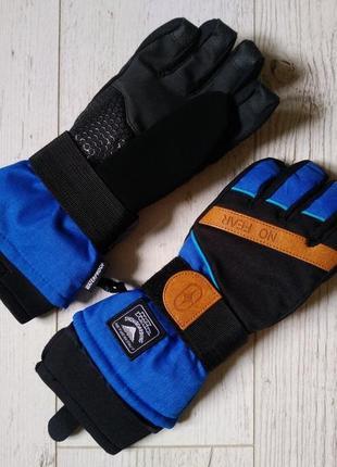 Перчатки водонепроницаемые горнолыжные на мальчика 8-11 лет