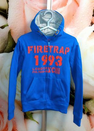 Олимпийка,кофта на молнии firetrap,внутри начес,12-13 лет.