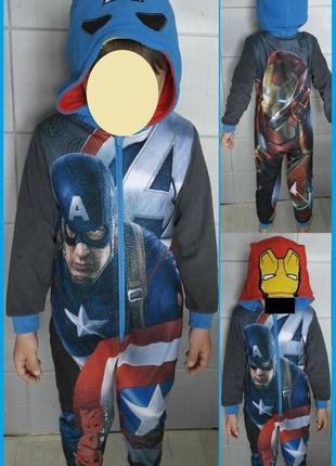 George marvel avengers мстители железный человек капитан америка слип кигуруми пижама