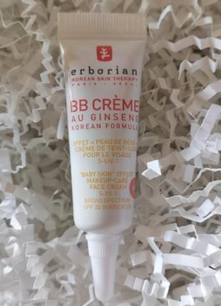 "Вв-крем ""baby skin"" с женьшенем erborian bb cream au ginseng 5-in-1 spf20, 5 мл"