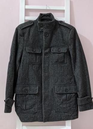 Мужское твидовое пальто next.