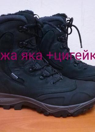 Зимние высокие ботинки на цигейке ecco xpedition ll, p.41