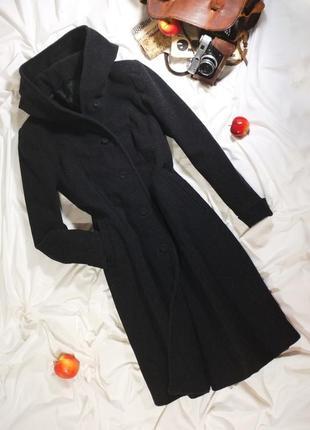 Теплое винтажное итальянское кашемировое шерстяное пальто (ретро, винтаж)