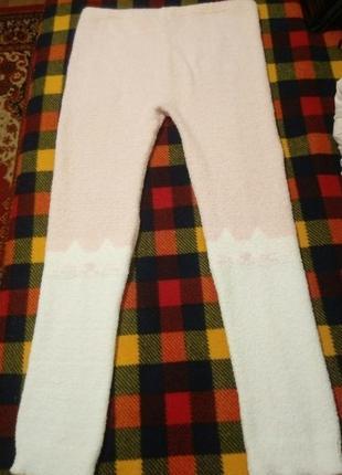 Лосины махровые  домашние, стрейчевые, леггинсы, штанишки в обтяжку, пижамные