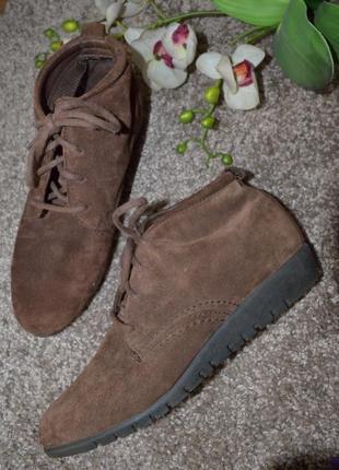 Осенние  замшевые ботиночки  dr scholls