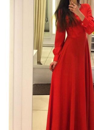 Коралловое платье vovk