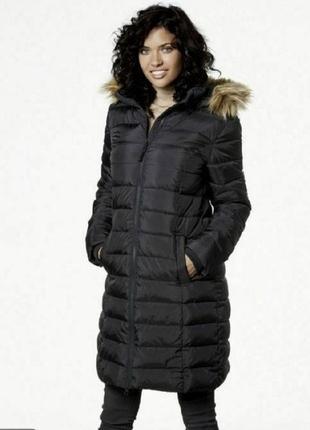 Теплая стеганная длинная куртка.esmara/германия.евро 40(14)