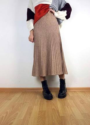 Тёплая плиссированная юбка m&s