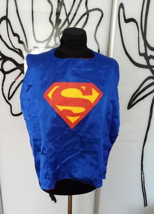 Карнавальный, костюм на хеллоуин плащ супермена, супергел