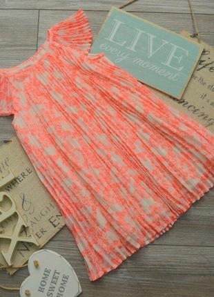 Платье в бабочки плиссе h&m 3-4г