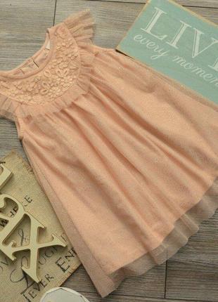Платье блестящее нарядное next 12-18 мес
