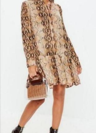 Платье рубашка с воланами от missguided