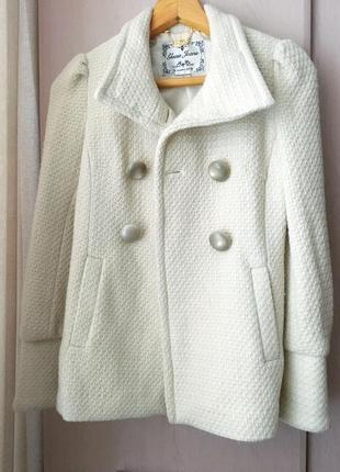Фирменное пальто полупальто guess jeans xs-s