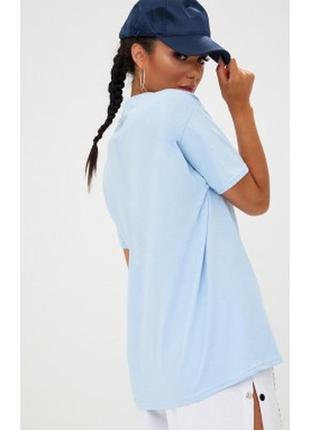 Оверсайз футболка небесноголубого цвета