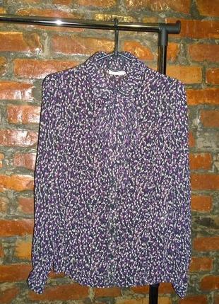 Блуза кофточка декорирована на шее бантом