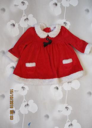Новогоднее платье санта для малышки