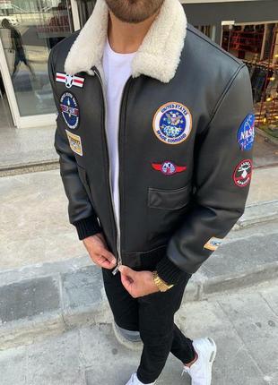 Куртка кожаная зимнего сезона