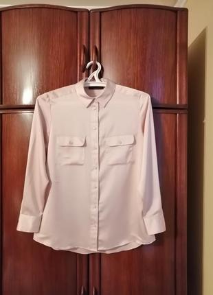 Великолепная рубашка marks&spencer, 100% полиестер, размер 14/42