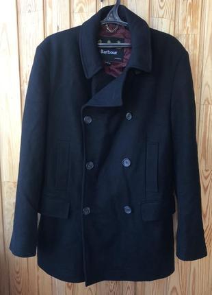 Шерстяное пальто barbour