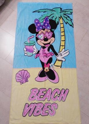 Большое красивое полотенце минни мауз, дисней