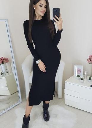 Платье миди рубчик