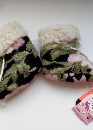 Детские пинетки+носочки в подарок