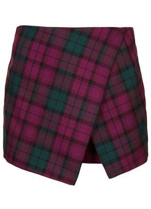 Шорты юбка в клетку ( очень красивая цветовая гамма)