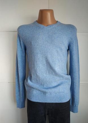 Теплый шерстяной пуловер, свитер irelandseye небесно-голубого цвета