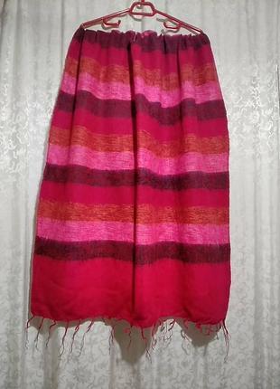 Теплый шарф, шаль,палантин 82х190