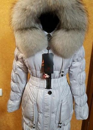 Шикарный пуховик-пальто