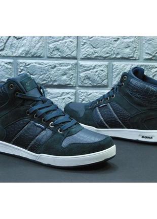 Зимние мужские кроссовки, ботинки, хайтопы bona, 2 цвета, р-р 41-46
