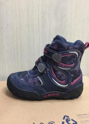 Ботинки зимние сапожки термо geox оригинал р.24 (15-15.5см) в идеале