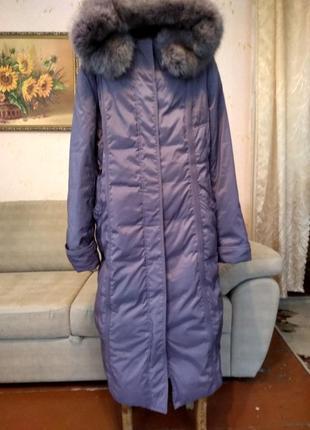 Теплое зимнее пальто пуховик  размер 54