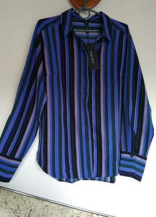 Рубашка в вертткальную полоску amisu