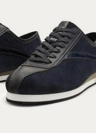 Кожаные кроссовки кеды massimo dutti