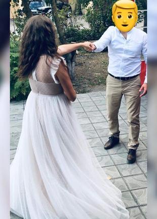 Платье в пол(свадебное)