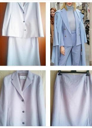 Шикарный дизайнерский юбочный костюм люкс бренда из мягчайшей шерсти!