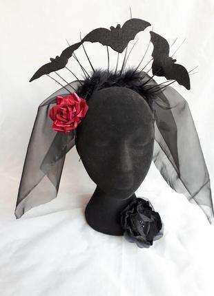Хэллоуин шляпа ведьмы. шляпа halloween. черная шляпа хэллоуин. ободок, обруч карнавальный