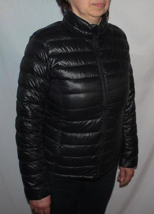 Пуховик куртка uniqlo черная теплая