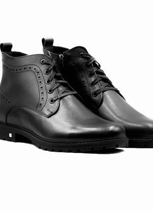 Мида мужские классические зимние ботинки натуральная кожа в наличии