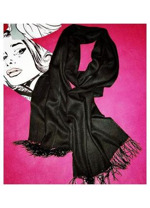 Демисезонный шарф с бахромой из бисера , италия