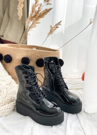 Ботинки лаковые зимние