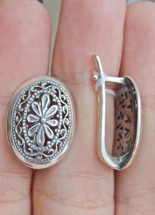 Серебряные серьги 2386