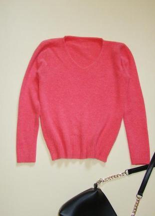 Пушистый ангоровый джемпер свитер xxs/xs